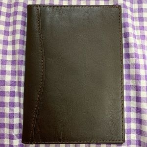 Genuine Leather Brown Passport Cover